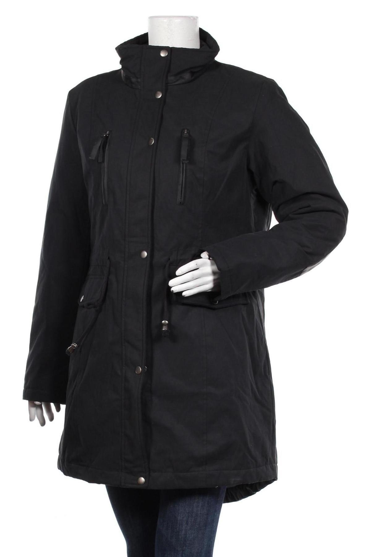 Дамско яке Bpc Bonprix Collection, Размер L, Цвят Черен, 58% полиестер, 42% памук, Цена 40,32лв.