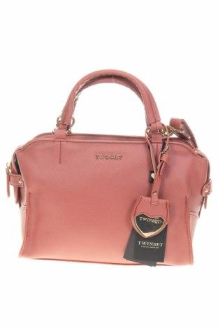 Чанта TWINSET, Цвят Розов, Еко кожа, Цена 147,95лв.