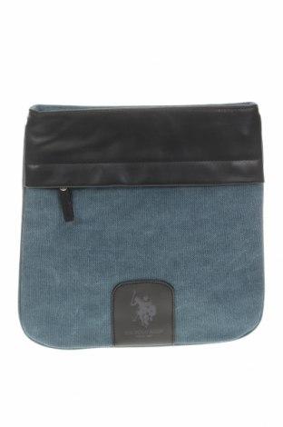 Чанта U.S. Polo Assn., Цвят Син, Текстил, еко кожа, Цена 89,25лв.