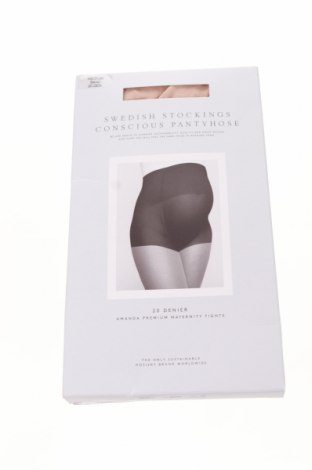 punčochače Swedish Stockings, Velikost M, Barva Béžová, 87% polyamide, 13% elastan, Cena  341,00Kč