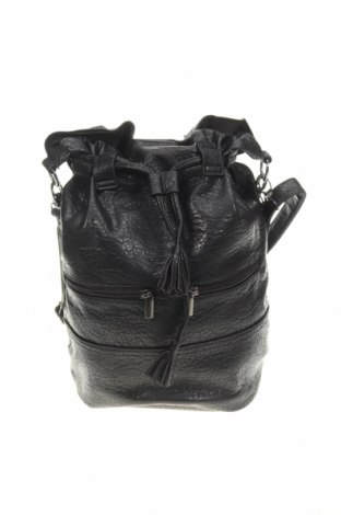 Дамска чанта Camaieu, Цвят Черен, Еко кожа, Цена 44,25лв.