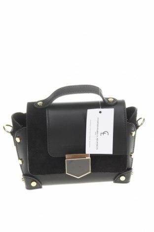 Дамска чанта Christian Laurier, Цвят Черен, Естествена кожа, естествен велур, Цена 291,75лв.