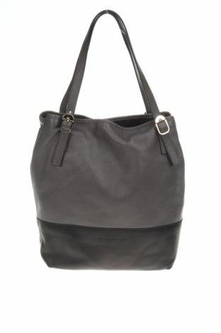 Дамска чанта Coccinelle, Цвят Сив, Естествена кожа, Цена 351,75лв.