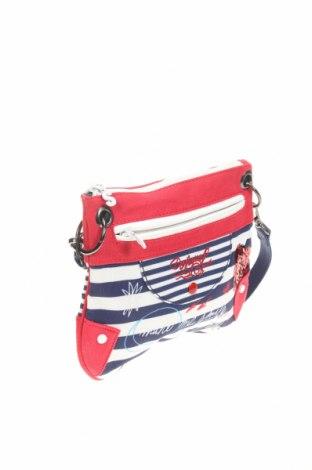 Дамска чанта Desigual, Цвят Многоцветен, Текстил, Цена 61,50лв.