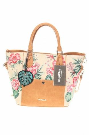 Дамска чанта Desigual, Цвят Многоцветен, Еко кожа, Цена 84,27лв.