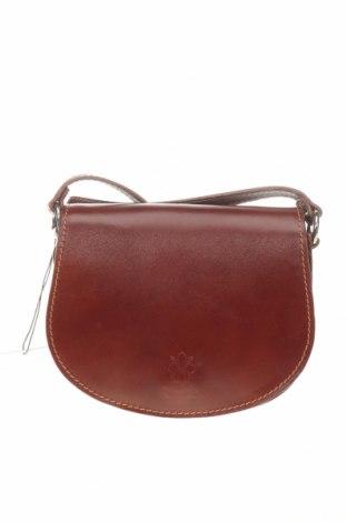 Γυναικεία τσάντα Giulia Massari, Χρώμα Καφέ, Γνήσιο δέρμα, Τιμή 61,47€