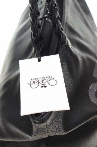 Дамска чанта Le Temps Des Cerises, Цвят Черен, Еко кожа, Цена 42,72лв.