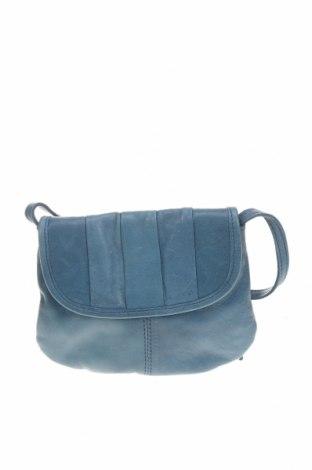Γυναικεία τσάντα Pieces, Χρώμα Μπλέ, Γνήσιο δέρμα, Τιμή 38,27€