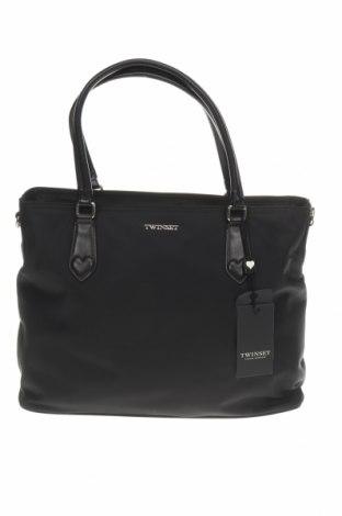 Geantă de femei TWINSET, Culoare Negru, Textil, piele ecologică, Preț 663,65 Lei