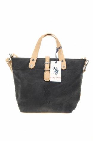 Дамска чанта U.S. Polo Assn., Цвят Черен, Еко кожа, Цена 84,27лв.