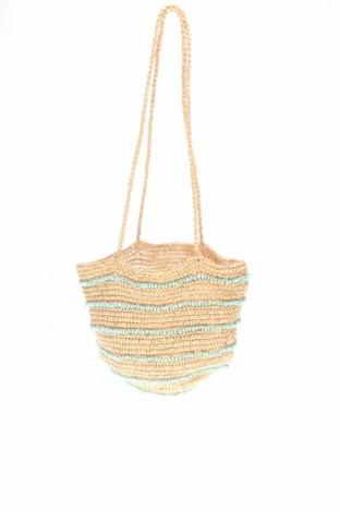 Дамска чанта Zara, Цвят Бежов, Други тъкани, Цена 23,68лв.
