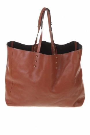 Дамска чанта Zara Trafaluc, Цвят Кафяв, Еко кожа, Цена 36,00лв.