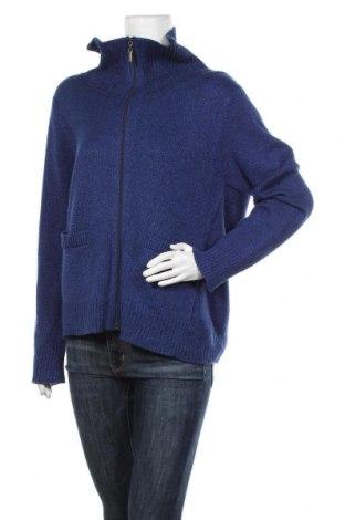 Дамска жилетка Alia, Размер M, Цвят Син, 60% памук, 40% акрил, Цена 20,16лв.