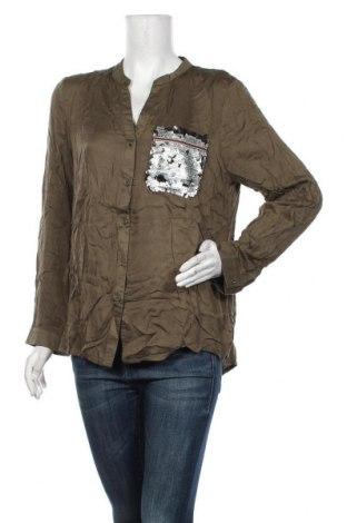 Дамска риза Anany, Размер XL, Цвят Зелен, Вискоза, Цена 23,52лв.