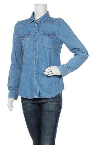 Дамска риза Topshop Moto, Размер M, Цвят Син, 100% памук, Цена 14,96лв.