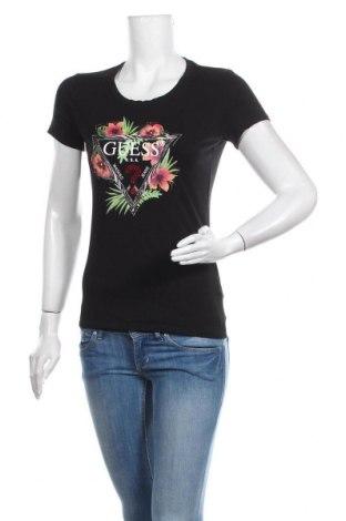 Tricou de femei Guess, Mărime M, Culoare Negru, 95% bumbac, 5% elastan, Preț 170,23 Lei