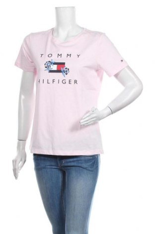 Дамска тениска Tommy Hilfiger, Размер M, Цвят Розов, Памук, Цена 59,25лв.