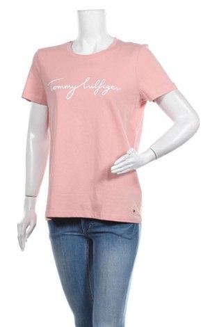 Tricou de femei Tommy Hilfiger, Mărime M, Culoare Mov deschis, Bumbac, Preț 194,90 Lei