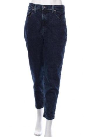 Дамски дънки Levi's, Размер L, Цвят Син, 85% памук, 14% полиестер, 1% еластан, Цена 119,25лв.