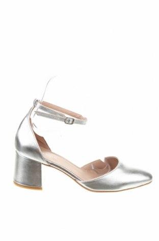 Дамски обувки Anna Field, Размер 37, Цвят Сребрист, Естествена кожа, Цена 32,20лв.