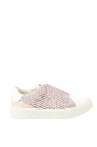 Γυναικεία παπούτσια Geox, Μέγεθος 40, Χρώμα Λευκό, Κλωστοϋφαντουργικά προϊόντα, γνήσιο δέρμα, Τιμή 35,26€
