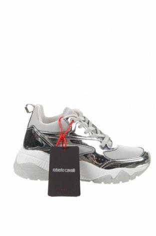 Γυναικεία παπούτσια Roberto Cavalli, Μέγεθος 39, Χρώμα Γκρί, Δερματίνη, κλωστοϋφαντουργικά προϊόντα, Τιμή 122,32€