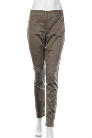 Дамски панталон Apart, Размер L, Цвят Зелен, 98% памук, 2% еластан, Цена 27,60лв.