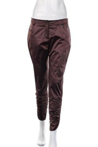 Дамски панталон Apart, Размер M, Цвят Кафяв, 50% полиестер, 47% памук, 3% еластан, Цена 27,60лв.