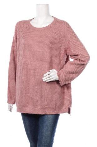 Pulover de femei F&F, Mărime XXL, Culoare Roz, Acrilic, Preț 69,63 Lei