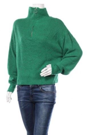 Pulover de femei H&M, Mărime M, Culoare Verde, 52%acril, 27% poliamidă, 12% poliester, 6% elastan, 3% lână, Preț 102,79 Lei