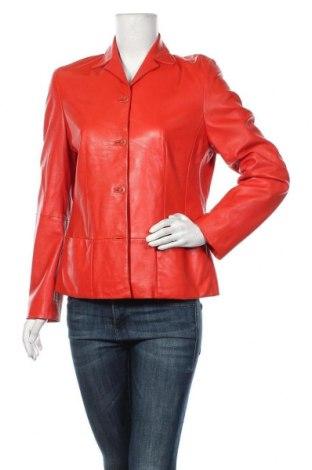 Дамско кожено сако Apriori, Размер M, Цвят Червен, Естествена кожа, Цена 73,19лв.