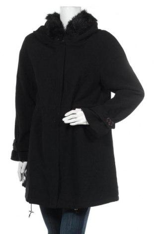 Дамско палто Apart, Размер M, Цвят Черен, 62% полиестер, 33% вискоза, 5% еластан, Цена 91,25лв.