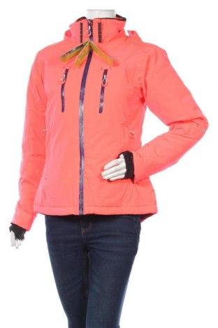 Geacă de femei pentru sport de iarnă Peak Mountain, Mărime M, Culoare Roz, 96% poliester, 4% elastan, Preț 441,62 Lei