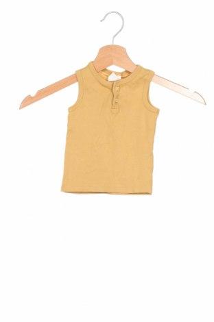 Podkoszulek dziecięcy H&M, Rozmiar 6-9m/ 68-74 cm, Kolor Żółty, Bawełna, Cena 49,50zł