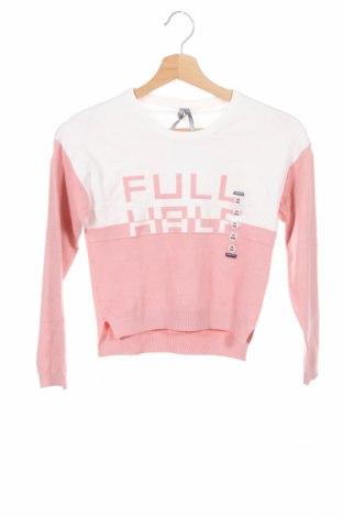Детски пуловер Orchestra, Размер 8-9y/ 134-140 см, Цвят Розов, 72% вискоза, 28% полиамид, Цена 19,80лв.