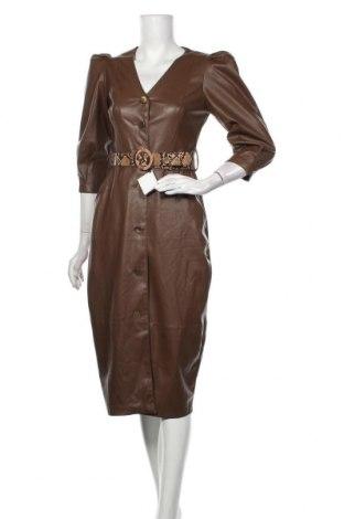 Rochie de piele Zara, Mărime S, Culoare Maro, Piele ecologică, Preț 153,95 Lei