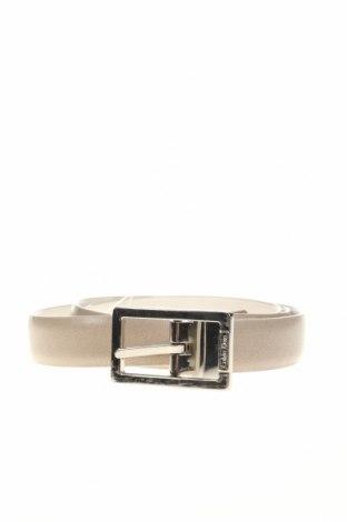 Ζώνη Calvin Klein, Χρώμα  Μπέζ, Γνήσιο δέρμα, Τιμή 22,73€