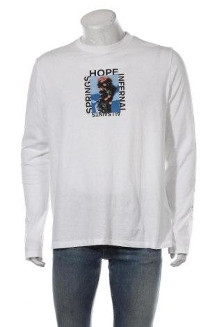 Мъжка блуза AllSaints, Размер M, Цвят Бял, Памук, Цена 35,55лв.