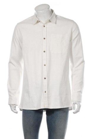 Мъжка риза Anerkjendt, Размер L, Цвят Бял, 97% памук, 3% еластан, Цена 41,42лв.