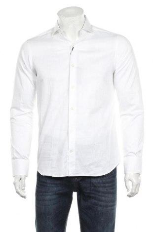Мъжка риза Massimo Dutti, Размер M, Цвят Бял, Памук, Цена 66,75лв.