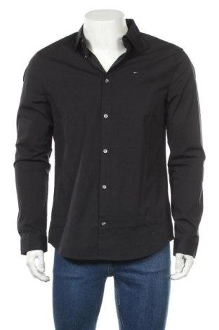 Pánská košile  Tommy Hilfiger, Velikost L, Barva Černá, 97% bavlna, 3% elastan, Cena  1278,00Kč