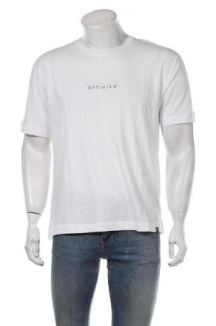 Мъжка тениска, Размер M, Цвят Бял, Памук, Цена 15,40лв.