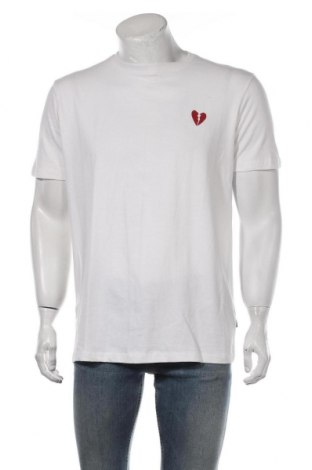 Мъжка тениска ! Solid, Размер L, Цвят Бял, 100% памук, Цена 21,00лв.