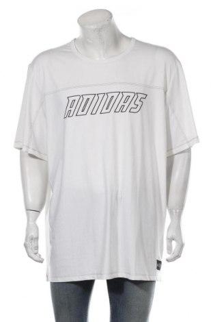 Мъжка тениска Adidas, Размер XXL, Цвят Бял, Полиестер, еластан, Цена 51,75лв.