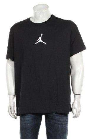 Мъжка тениска Air Jordan Nike, Размер XL, Цвят Черен, 57% памук, 43% полиестер, Цена 74,25лв.