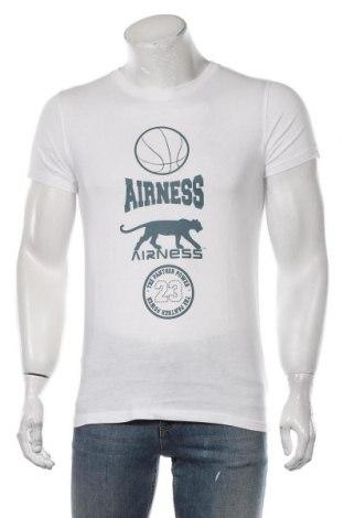 Мъжка тениска Airness, Размер M, Цвят Бял, 100% памук, Цена 17,40лв.