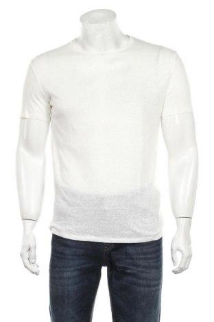 Мъжка тениска Alcott, Размер S, Цвят Бял, Лен, Цена 12,60лв.