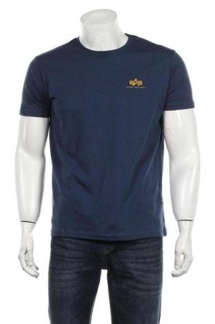 Ανδρικό t-shirt Alpha Industries, Μέγεθος M, Χρώμα Μπλέ, Βαμβάκι, Τιμή 24,19€
