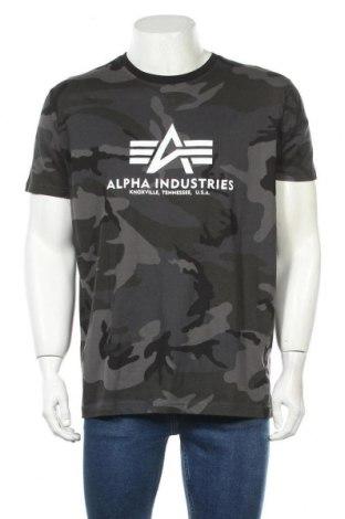 Мъжка тениска Alpha Industries, Размер XL, Цвят Сив, Памук, Цена 51,75лв.