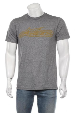 Мъжка тениска Alpinestars, Размер M, Цвят Сив, 50% полиестер, 37% памук, 13% вискоза, Цена 39,00лв.